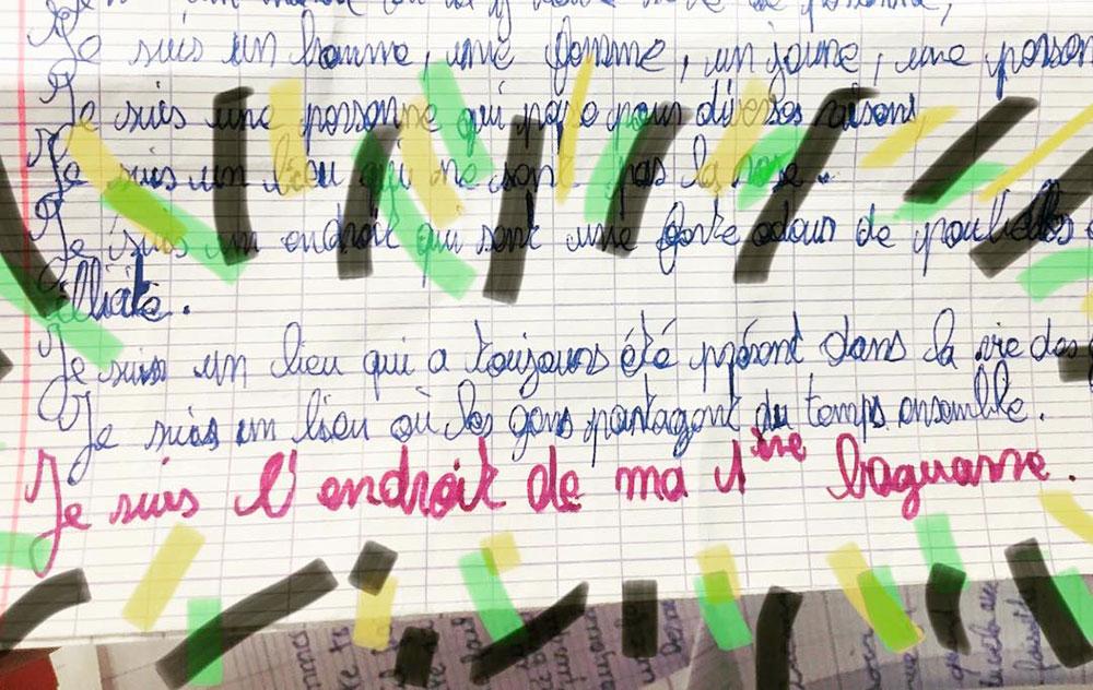 Atelier d'écriture au collège - La Compagnie Nova